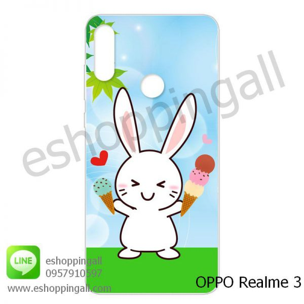 MOP-007A102 OPPO Realme3 เคสมือถือออปโป้แบบแข็งพิมพ์ลาย