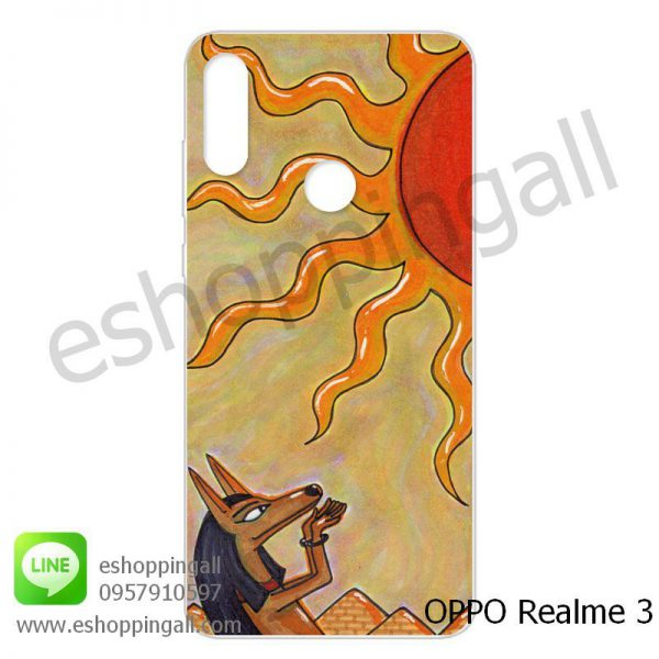 MOP-007A119 OPPO Realme3 เคสมือถือออปโป้แบบแข็งพิมพ์ลาย