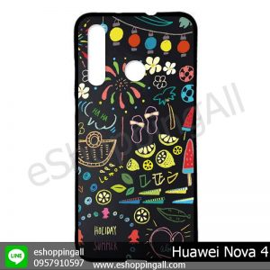 MHW-005A407 Huawei Nova 4 เคสมือถือหัวเหว่ยแบบยางนิ่มพิมพ์ลาย