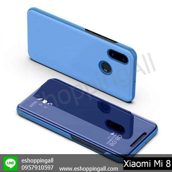 MXI-007A304 Xiaomi Mi8 เคสมือถือเสี่ยวมี่ฝาพับอะคริลิค