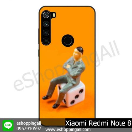 MXI-010A115 Xaomi Redmi Note 8 เคสมือถือเสี่ยวมี่ขอบยางพิมพ์ลายเคลือบใส