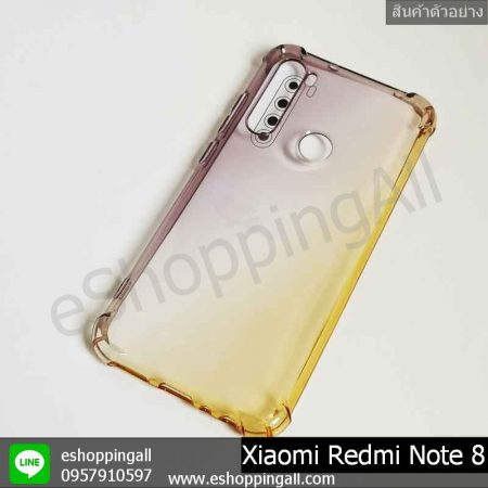 MXI-010A204 Xaomi Redmi Note 8 เคสมือถือเสี่ยวมี่แบบยางนิ่ม สีพาสเทล
