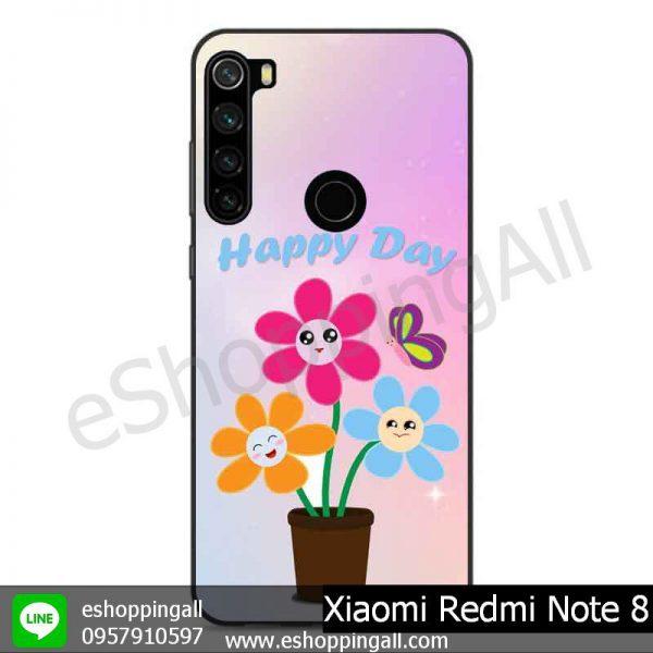 MXI-010A103 Xaomi Redmi Note 8 เคสมือถือเสี่ยวมี่ขอบยางพิมพ์ลายเคลือบใส