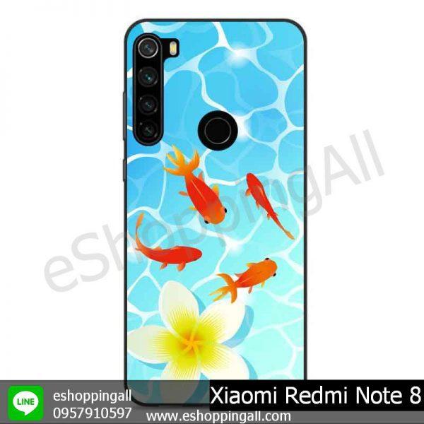 MXI-010A105 Xaomi Redmi Note 8 เคสมือถือเสี่ยวมี่ขอบยางพิมพ์ลายเคลือบใส