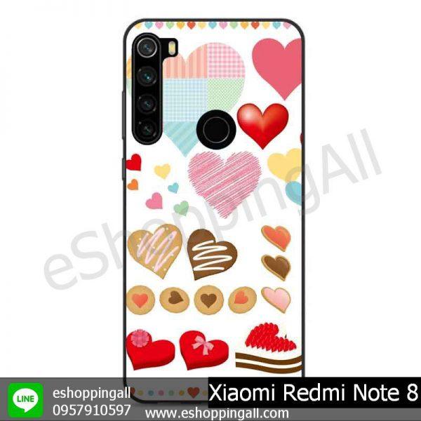 MXI-010A106 Xaomi Redmi Note 8 เคสมือถือเสี่ยวมี่ขอบยางพิมพ์ลายเคลือบใส
