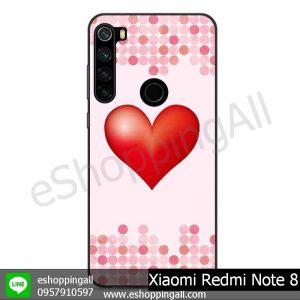 MXI-010A109 Xaomi Redmi Note 8 เคสมือถือเสี่ยวมี่ขอบยางพิมพ์ลายเคลือบใส