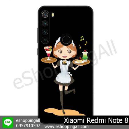 MXI-010A111 Xaomi Redmi Note 8 เคสมือถือเสี่ยวมี่ขอบยางพิมพ์ลายเคลือบใส