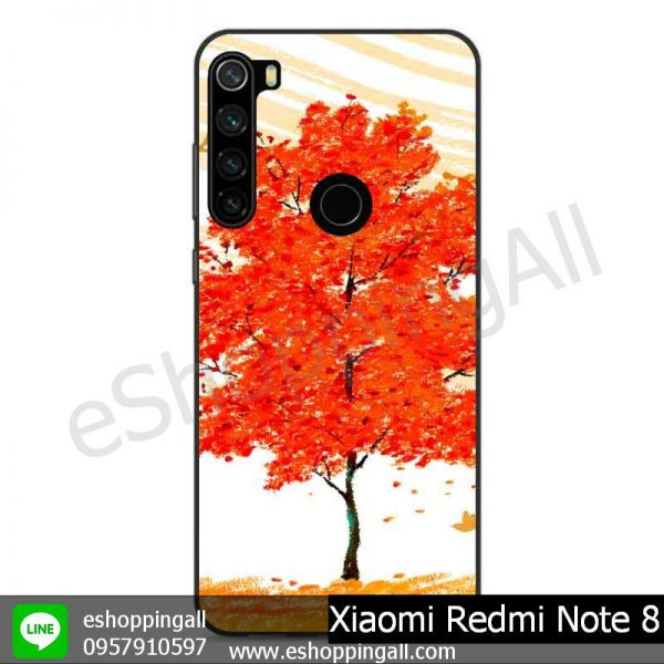 MXI-010A114 Xaomi Redmi Note 8 เคสมือถือเสี่ยวมี่ขอบยางพิมพ์ลายเคลือบใส