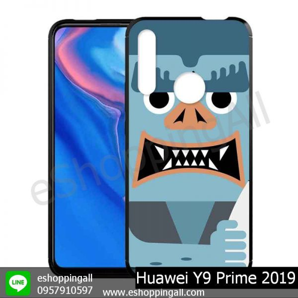MHW-018A104 Huawei Y9 Prime 2019 เคสมือถือหัวเหว่ยขอบยางพิมพ์ลายเคลือบใส