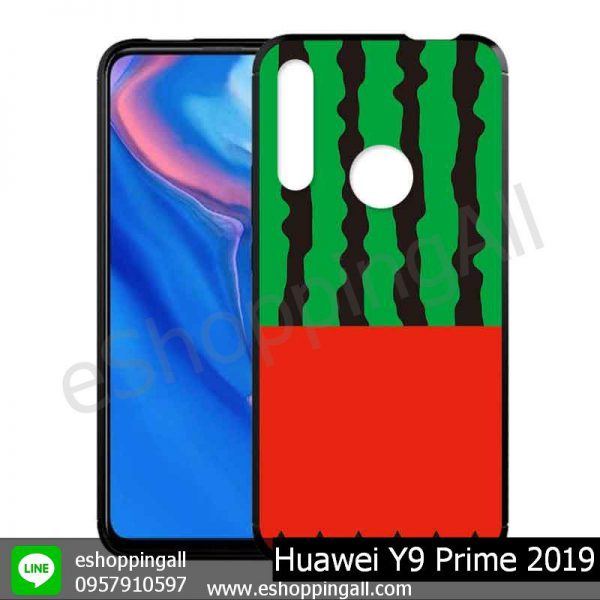 MHW-018A109 Huawei Y9 Prime 2019 เคสมือถือหัวเหว่ยขอบยางพิมพ์ลายเคลือบใส