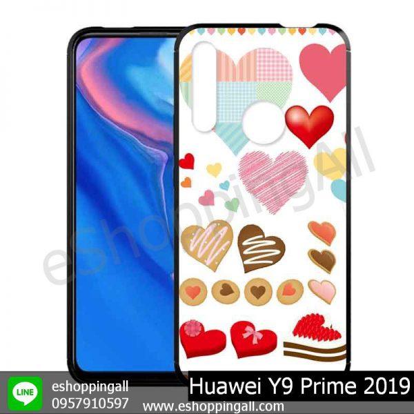MHW-018A111 Huawei Y9 Prime 2019 เคสมือถือหัวเหว่ยขอบยางพิมพ์ลายเคลือบใส