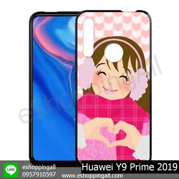 MHW-018A115 Huawei Y9 Prime 2019 เคสมือถือหัวเหว่ยขอบยางพิมพ์ลายเคลือบใส