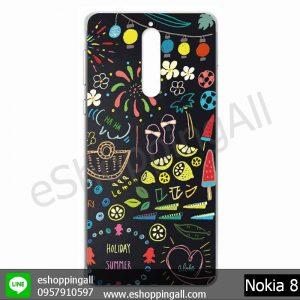 MNK-001A107 Nokia 8 เคสมือถือโนเกียแบบแข็งพิมพ์ลาย