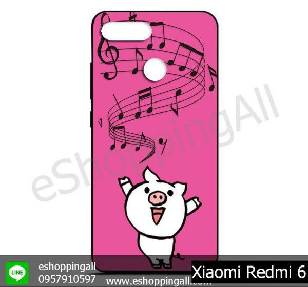 MXI-011A113 Xiaomi Redmi 6 เคสมือถือเสี่ยวมี่ยางนิ่มพิมพ์ลาย