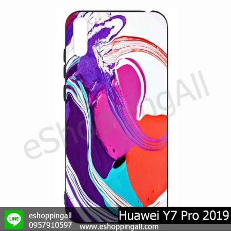 MHW-021A115 Huawei Y7 Pro 2019 เคสมือถือหัวเหว่ยแบบยางนิ่มพิมพ์ลาย