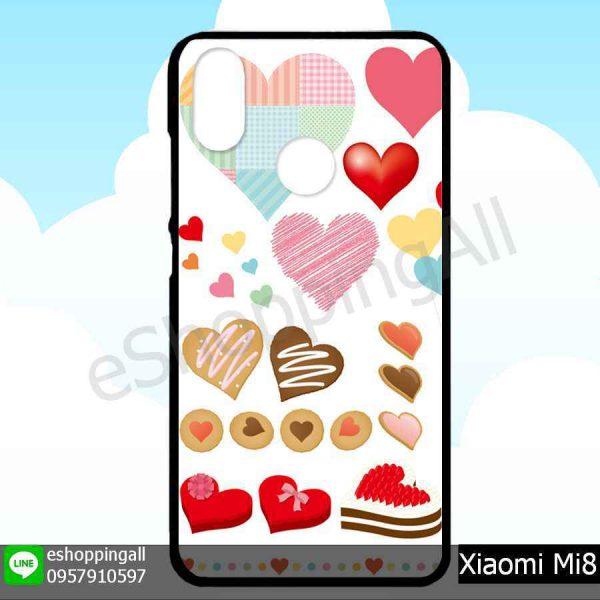 MXI-007A102 Xiaomi Mi8 เคสมือถือเสี่ยวมี่ขอบยางพิมพ์ลายเคลือบใส