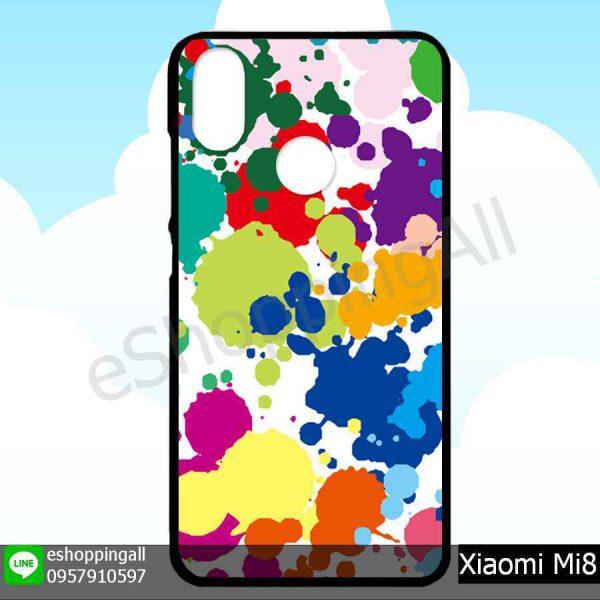MXI-007A107 Xiaomi Mi8 เคสมือถือเสี่ยวมี่ขอบยางพิมพ์ลายเคลือบใส