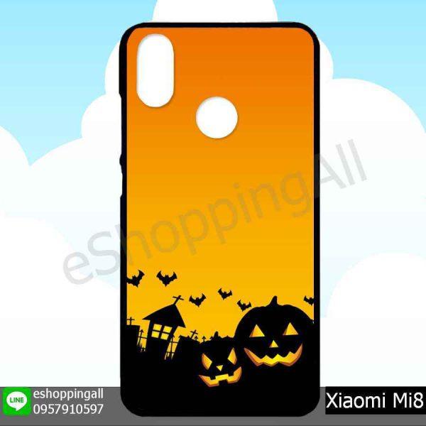 MXI-007A110 Xiaomi Mi8 เคสมือถือเสี่ยวมี่ขอบยางพิมพ์ลายเคลือบใส