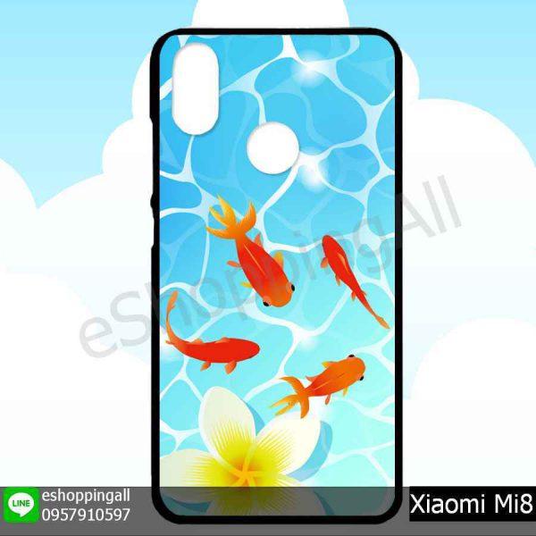 MXI-007A111 Xiaomi Mi8 เคสมือถือเสี่ยวมี่ขอบยางพิมพ์ลายเคลือบใส