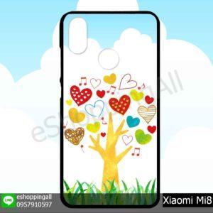 MXI-007A119 Xiaomi Mi8 เคสมือถือเสี่ยวมี่ขอบยางพิมพ์ลายเคลือบใส