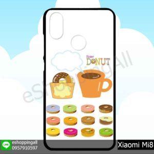MXI-007A120 Xiaomi Mi8 เคสมือถือเสี่ยวมี่ขอบยางพิมพ์ลายเคลือบใส