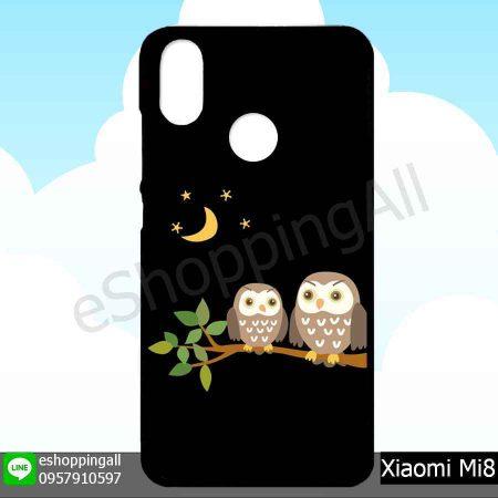 MXI-007A123 Xiaomi Mi8 เคสมือถือเสี่ยวมี่ขอบยางพิมพ์ลายเคลือบใส