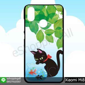 MXI-007A125 Xiaomi Mi8 เคสมือถือเสี่ยวมี่ขอบยางพิมพ์ลายเคลือบใส