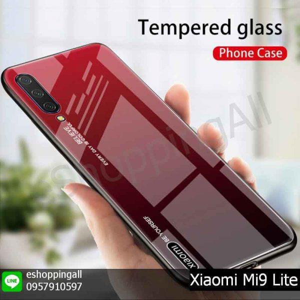 MXI-016A303 Xiaomi Mi9 Lite เคสมือถือเสี่ยวมี่แบบแข็งขอบยาง หลังอะคริลิค