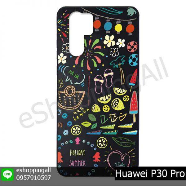 MHW-022A123 Huawei P30 Pro เคสมือถือหัวเหว่ยแบบยางพิมพ์ลาย