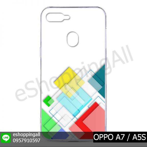MOP-012A103 OPPO A7 / A5S เคสมือถือออปโป้แบบแข็งพิมพ์ลาย