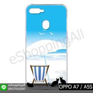 MOP-012A118 OPPO A7 / A5S เคสมือถือออปโป้แบบแข็งพิมพ์ลาย