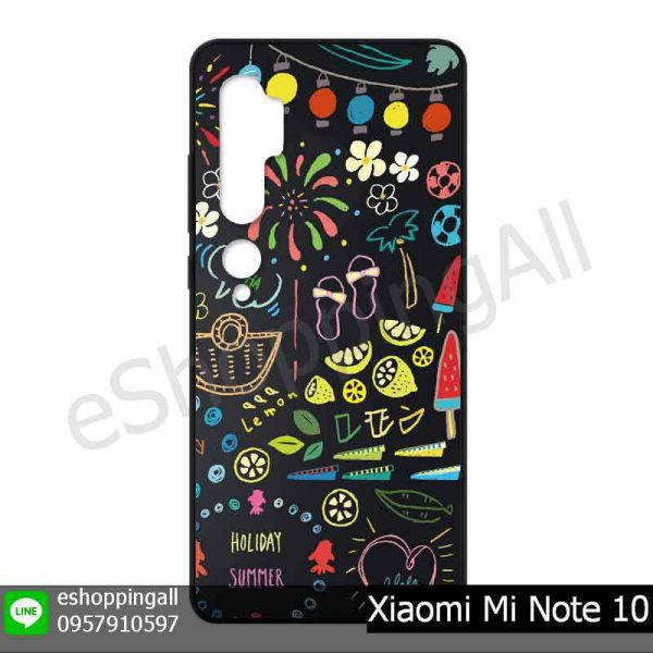 MXI-017A101 Xiaomi Mi Note 10 เคสมือถือเสี่ยวมี่แบบยางนิ่มพิมพ์ลาย