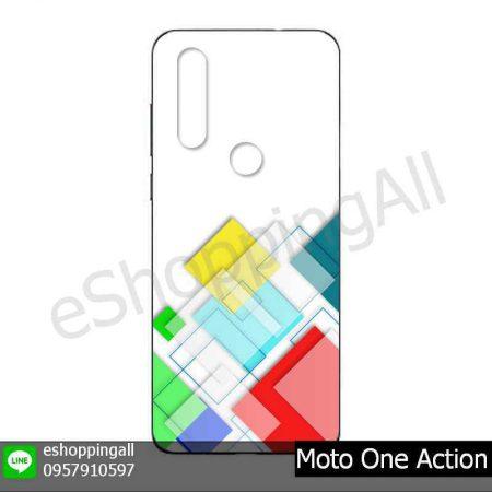 MMT-001A115 Moto One Action เคสมือถือโมโตแบบยางนิ่มพิมพ์ลาย