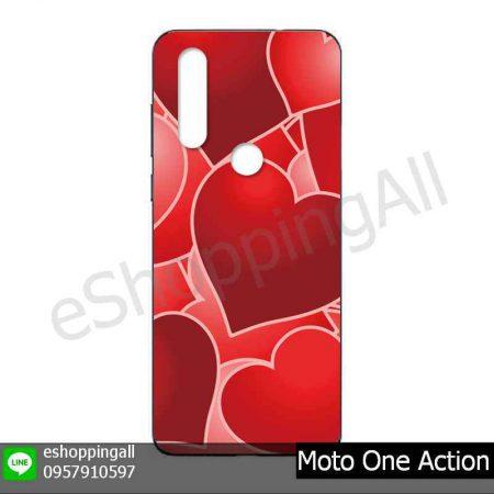 MMT-001A120 Moto One Action เคสมือถือโมโตแบบยางนิ่มพิมพ์ลาย