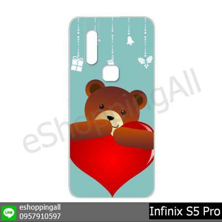 MIN-001A105 Infinix S5 Pro เคสมือถืออินฟินิกซ์ยางนิ่มพิมพ์ลาย